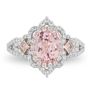 Enchanted Disney Aurora Oval Morganite And 34 CT TW