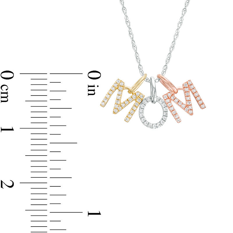 1/6 CT. T.W. Diamond Block Letters