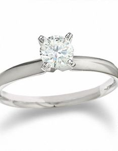 Diamond solitaire engagement ring in  white gold also ct rh zalesoutlet
