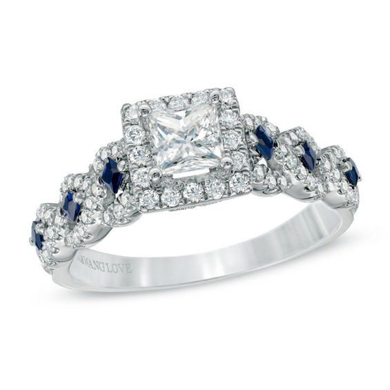 Vera Wang Love Collection 1 CT TW Diamond And Blue