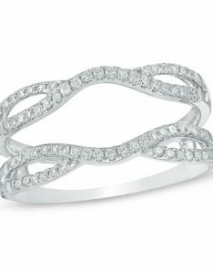 diamond double row solitaire enhancer in  white gold wedding bands zales outlet also ct rh zalesoutlet