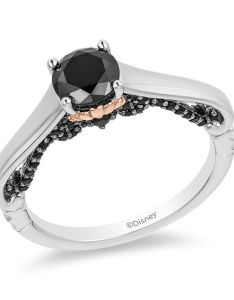 Enchanted disney villains ursula ct   enhanced black diamond engagement ring in  two tone gold view all wedding zales outlet also rh zalesoutlet
