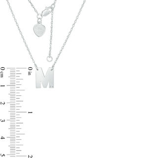 Diamond Accent Uppercase Block Initial Necklace in