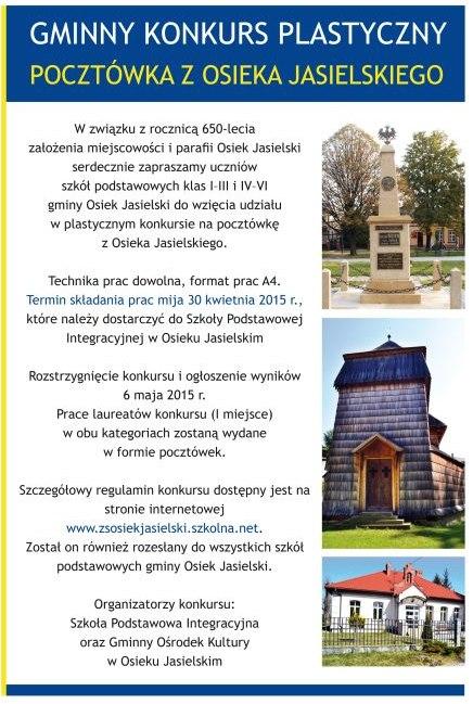 Pocztówka z Osieka J. - konkurs plastyczny 04.2015