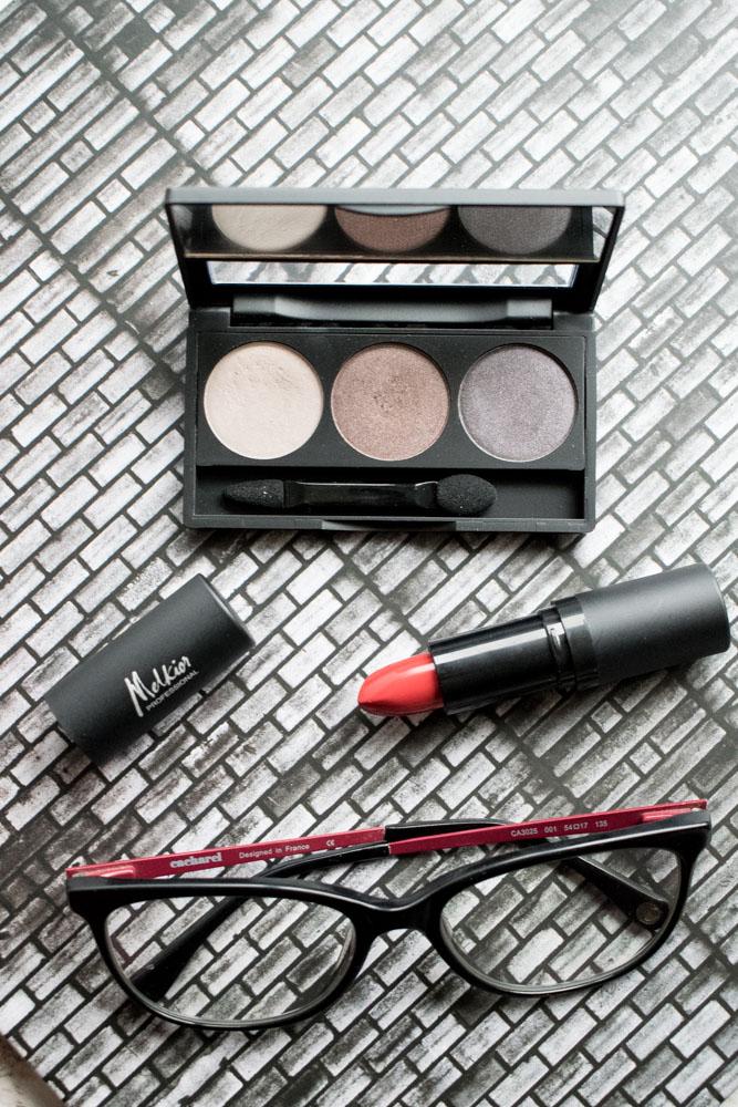 Sheer Moods Palette si Le Rouge Lipstick de la Melkior