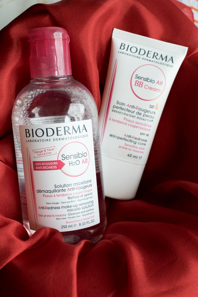 apa micelara si bb cream bioderma ten sensibil