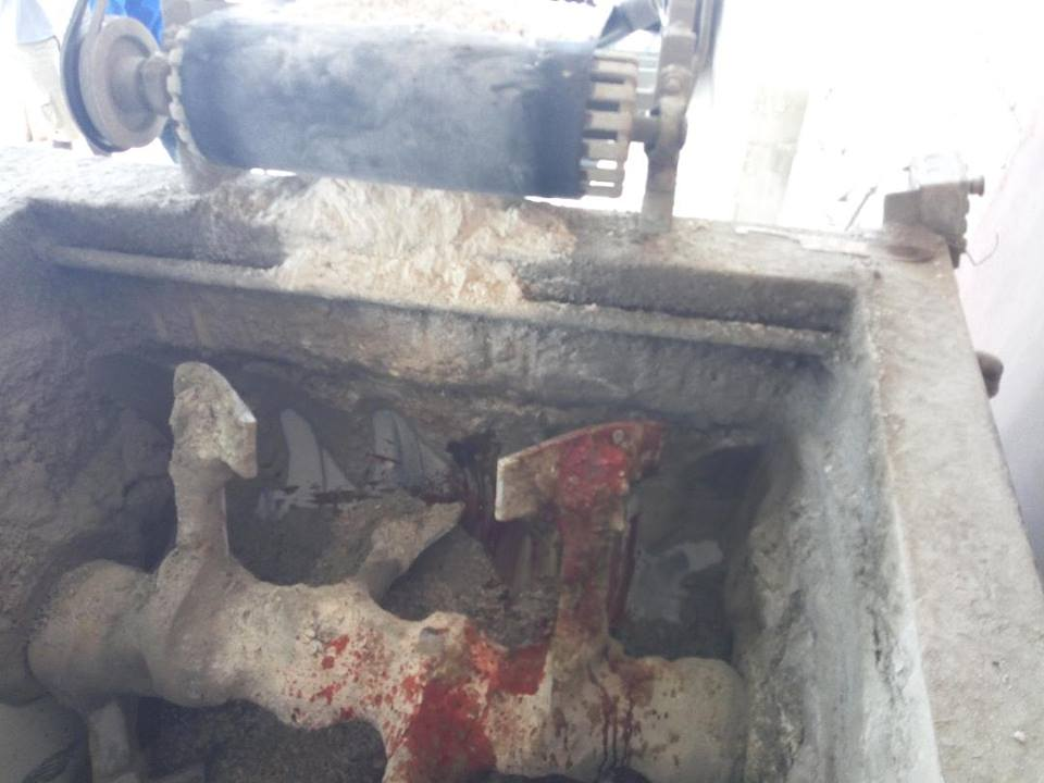 Man crushed to death in block mixing machine