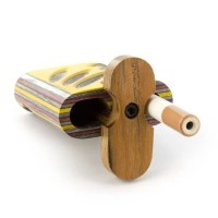 Dugout Pipe Rainbow Wood Swivel