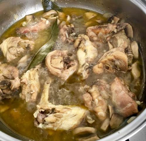 Pollo de corral, receta casera