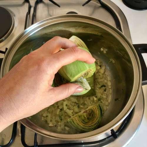 Receta de alcachofas estofadas IV