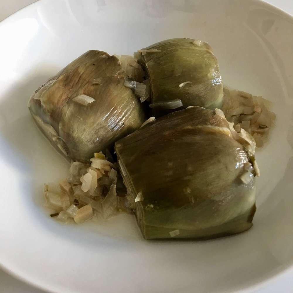 Receta de alcachofas estofadas VII
