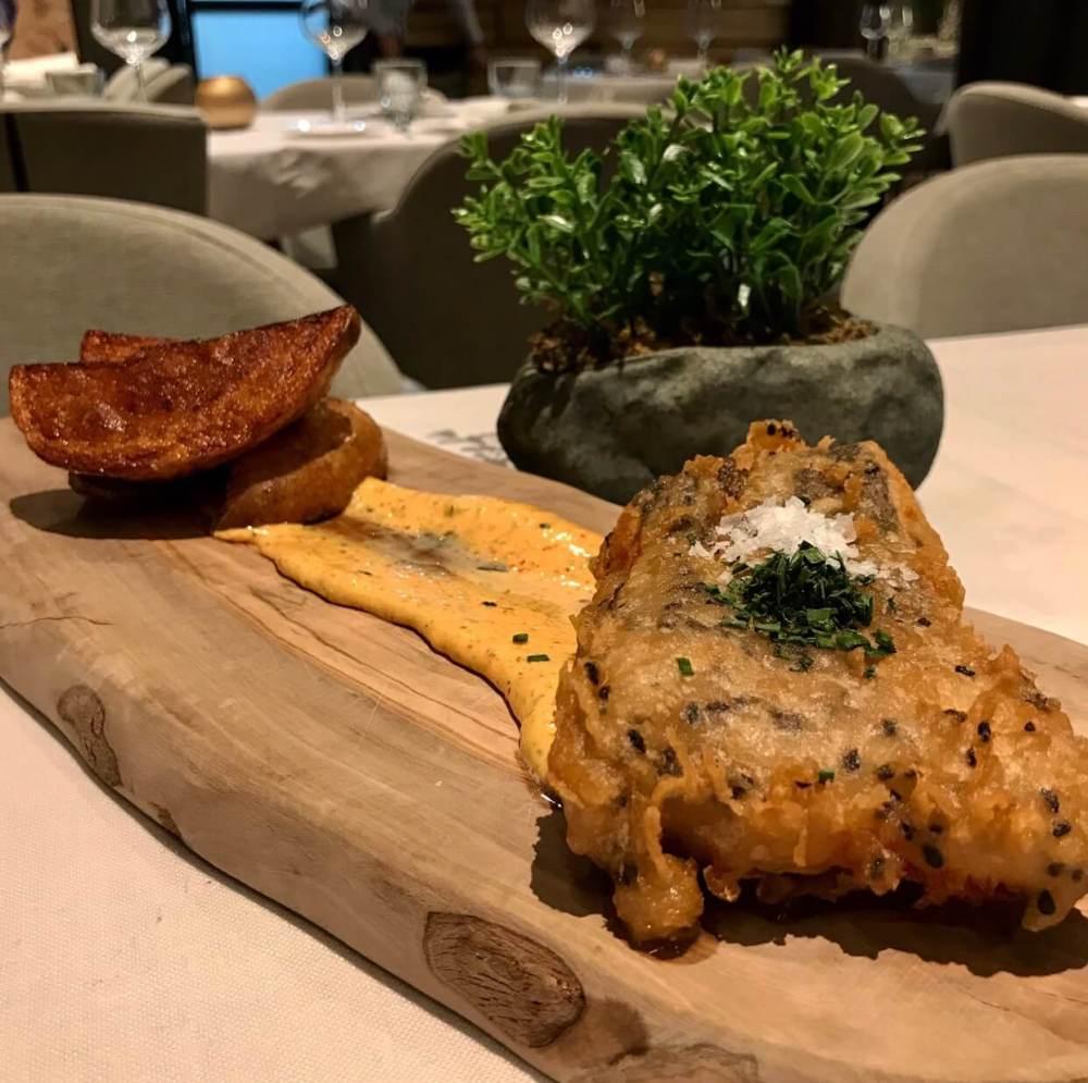 Fish and Chips en el restaurante el Picaporte