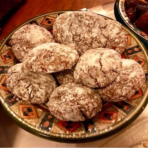 Pasteles árabes en el restaurante Al-Mounia