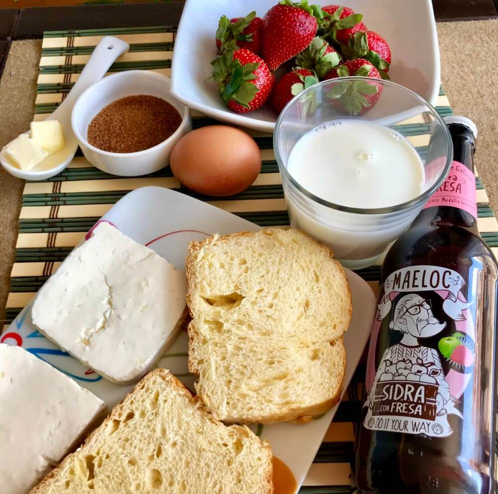 Tostadas francesas, ingredientes con sidra maeloc