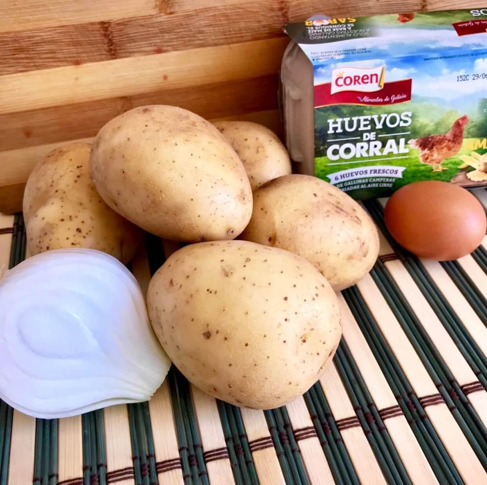 Ingredientes para hacer tortilla de patatas