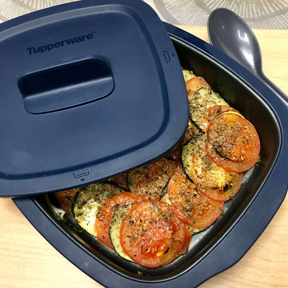 Receta con MicroPro Grill con Tupperware