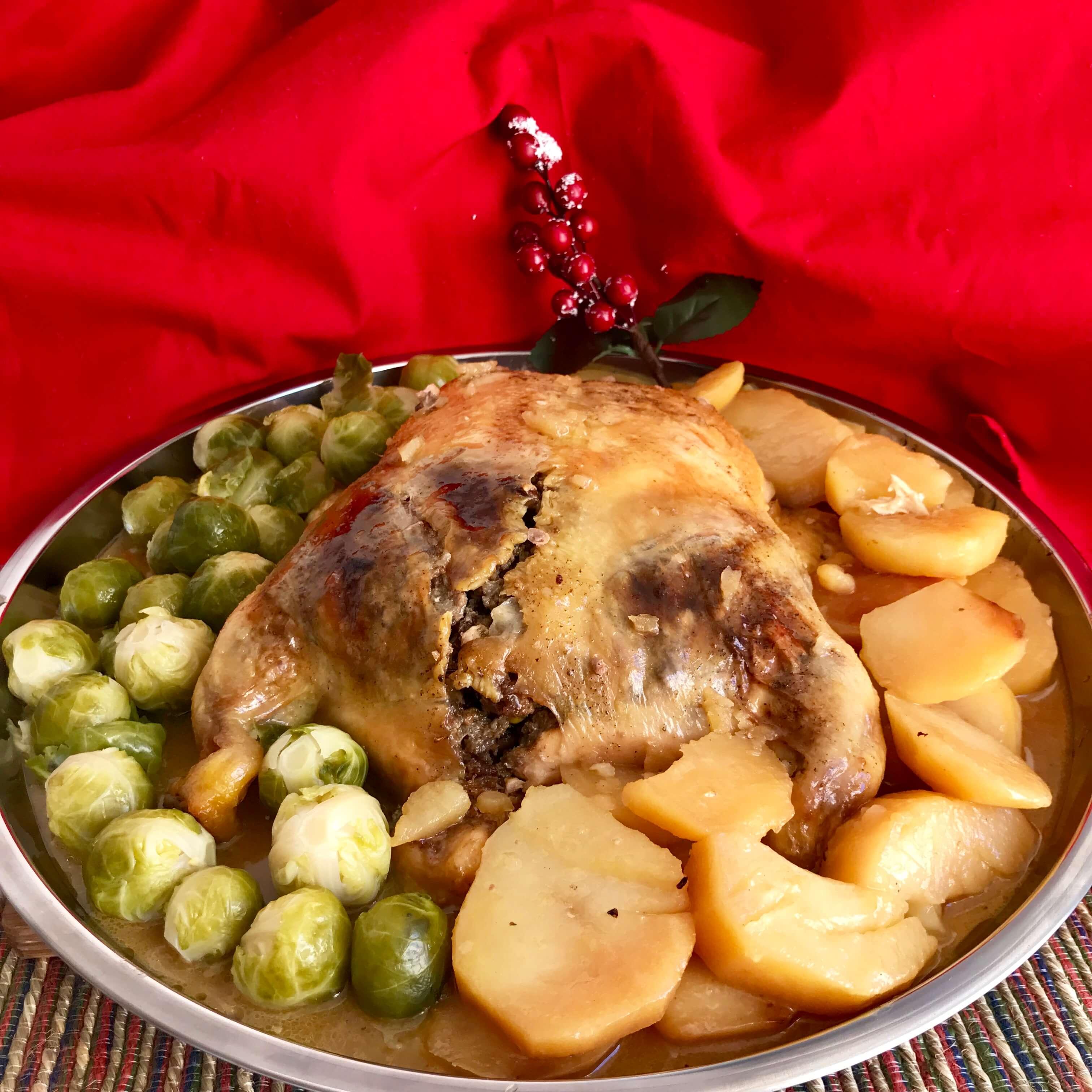 Receta de pollo relleno