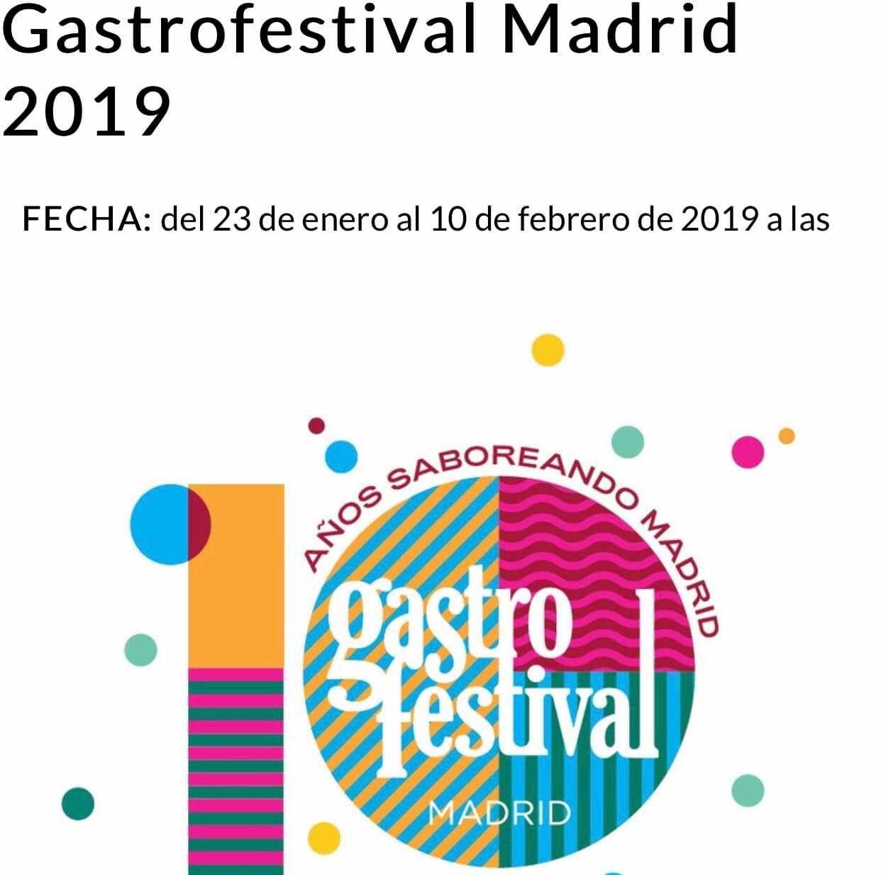 Gastrofestival Madrid 2019