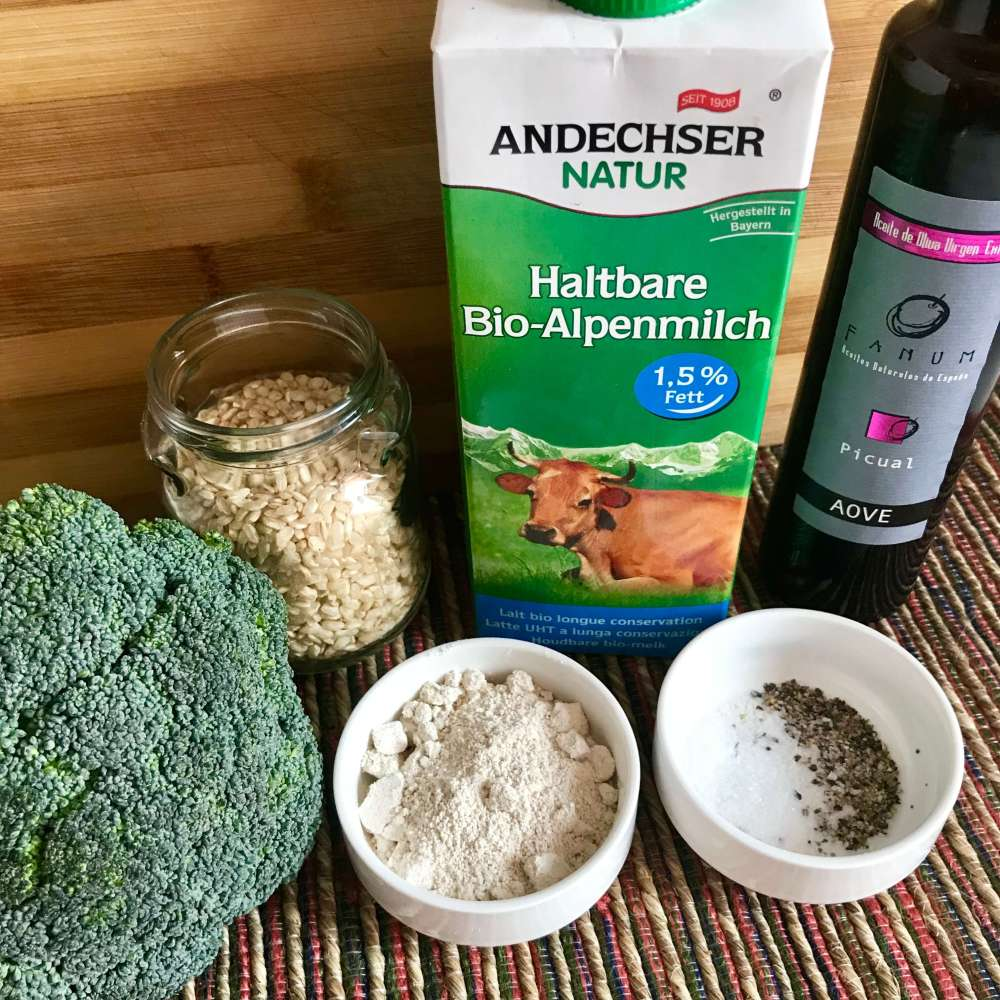 Ingredientes para hacer brócoli gratinado