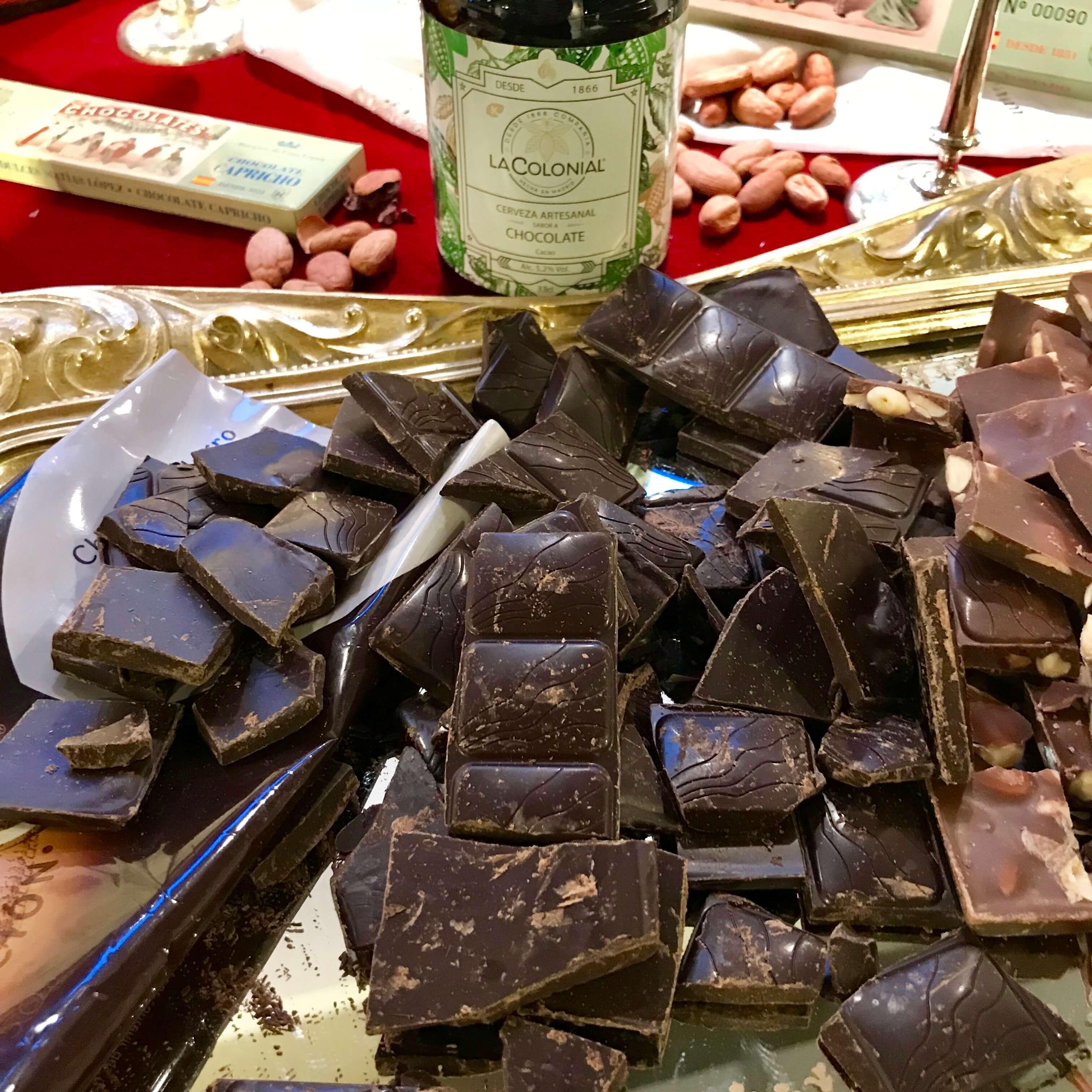 Mapa del chocolate de Madrid