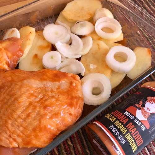 Pollo asado picante con Juana Madrid