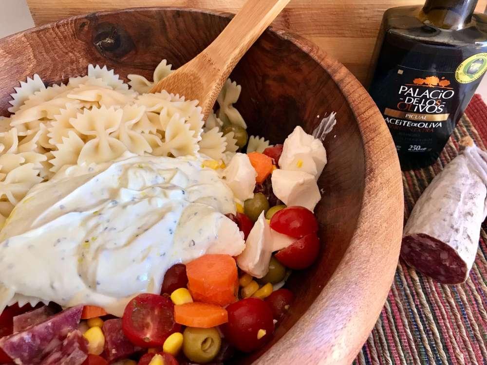 Ensalada de pasta con Salgot