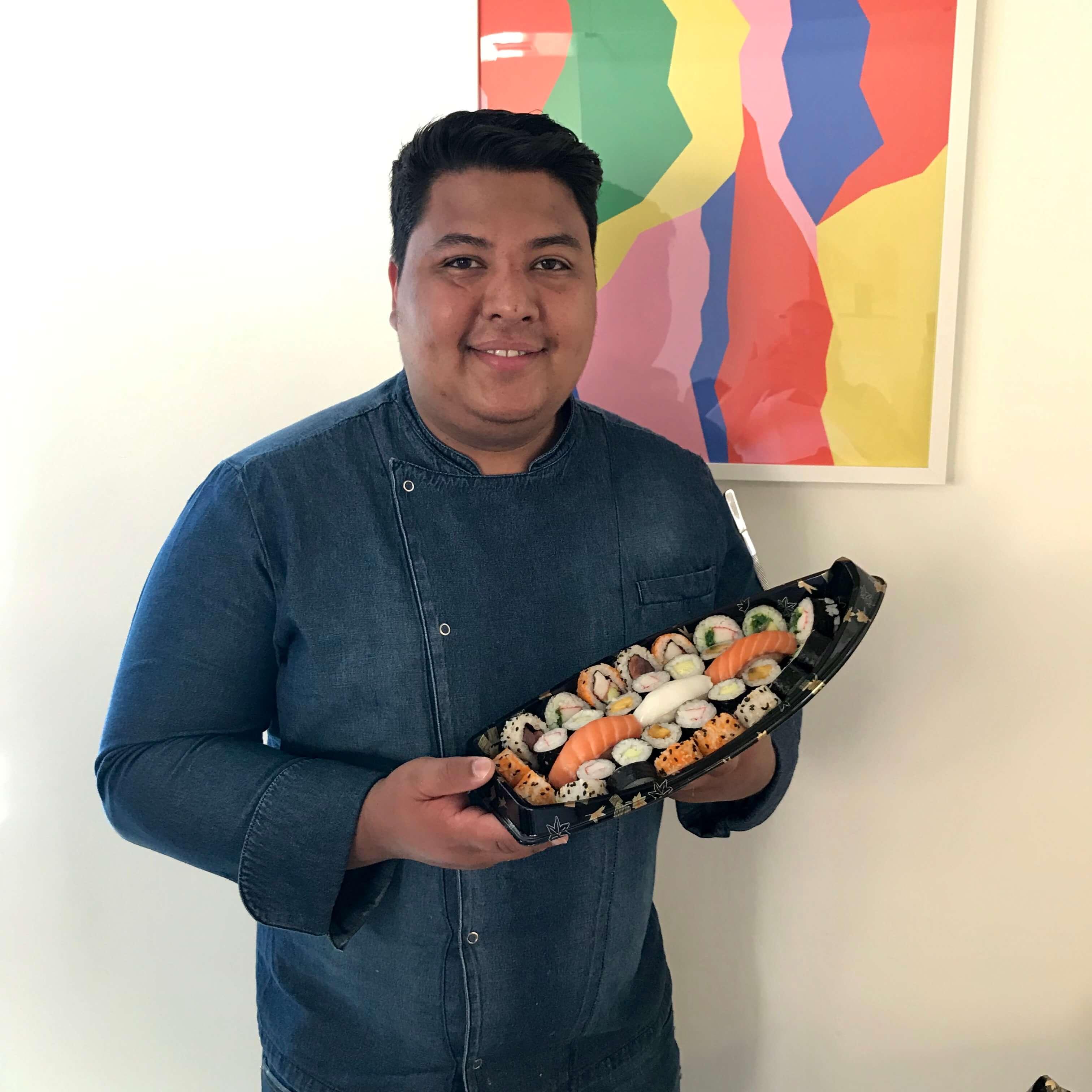 Chef Albert en el curso de sushi el Japo Oficial