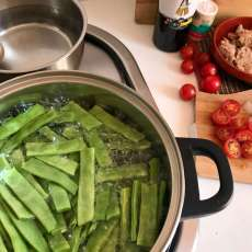 Preparación de judías verdes