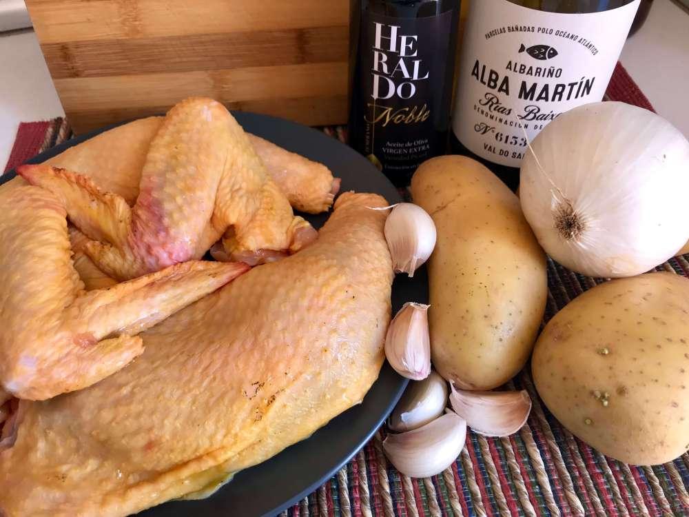 Ingredientes para cocinar ave asada