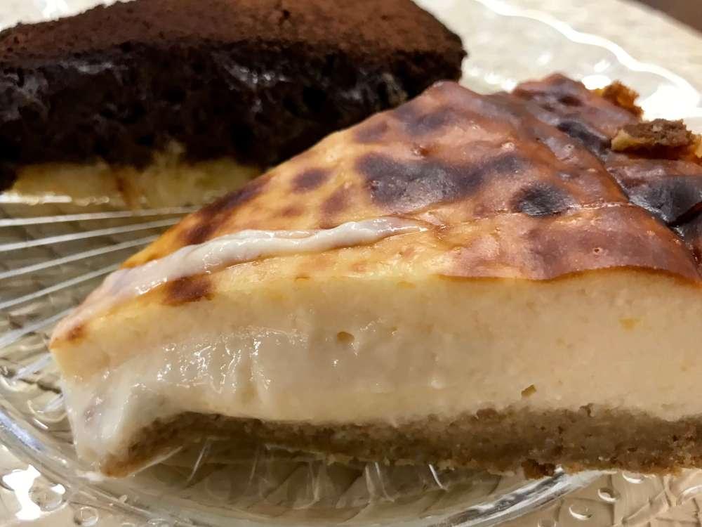 Tarta de queso en el restaurante Tres por Cuatro