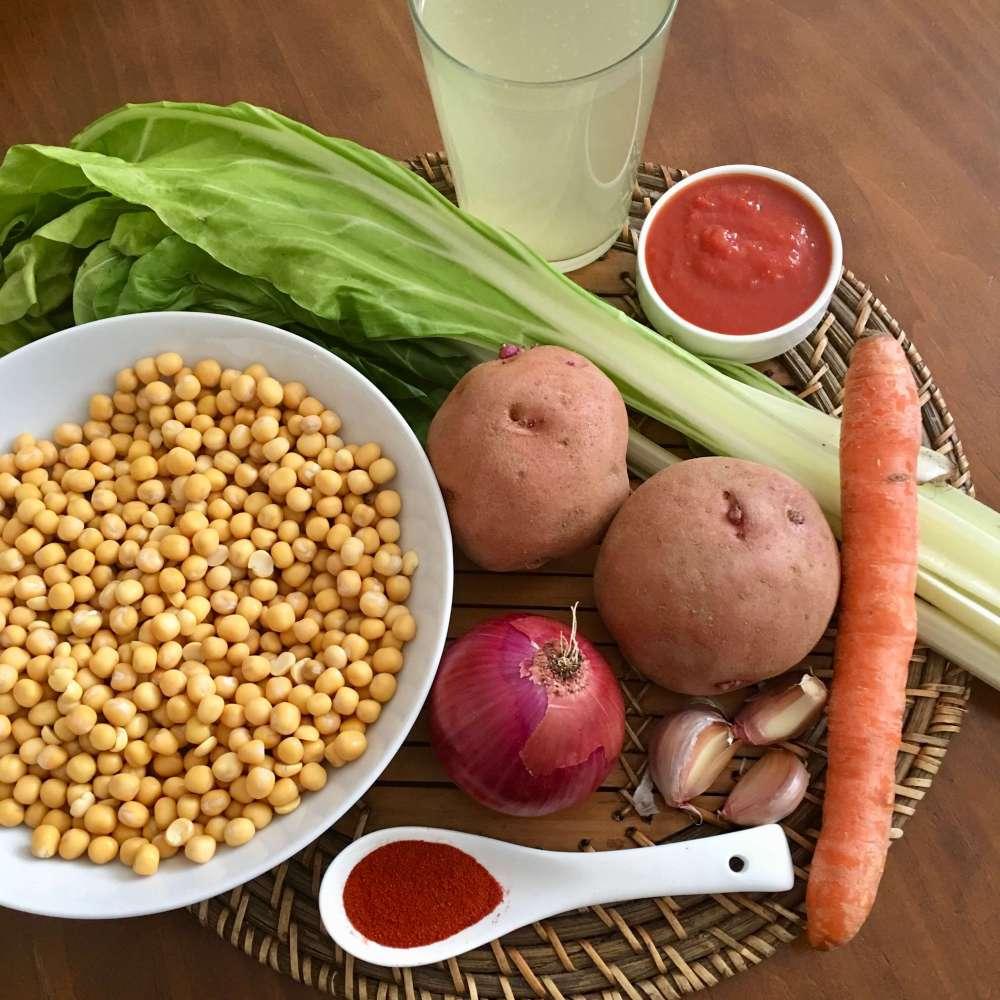 Ingredientes para hacer potaje de alverjas
