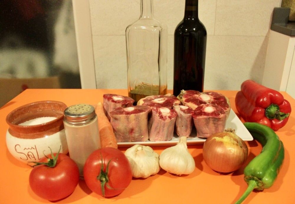 Ingredientes para hacer rabo de toro