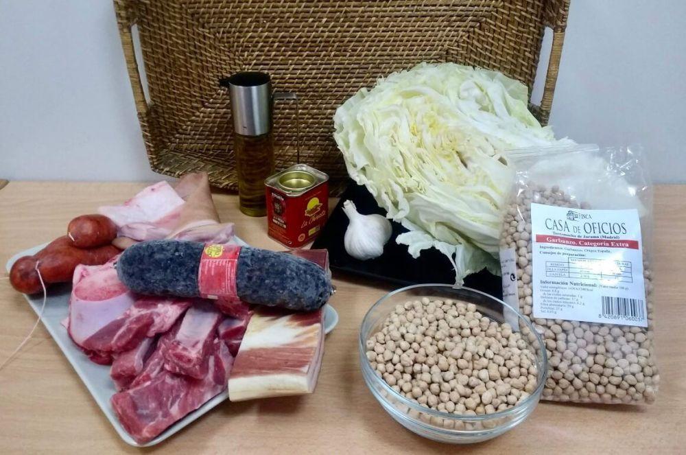 Ingredientes para preparar platos de Burgos