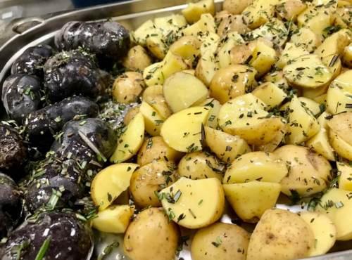 Patatas agrias y moradas