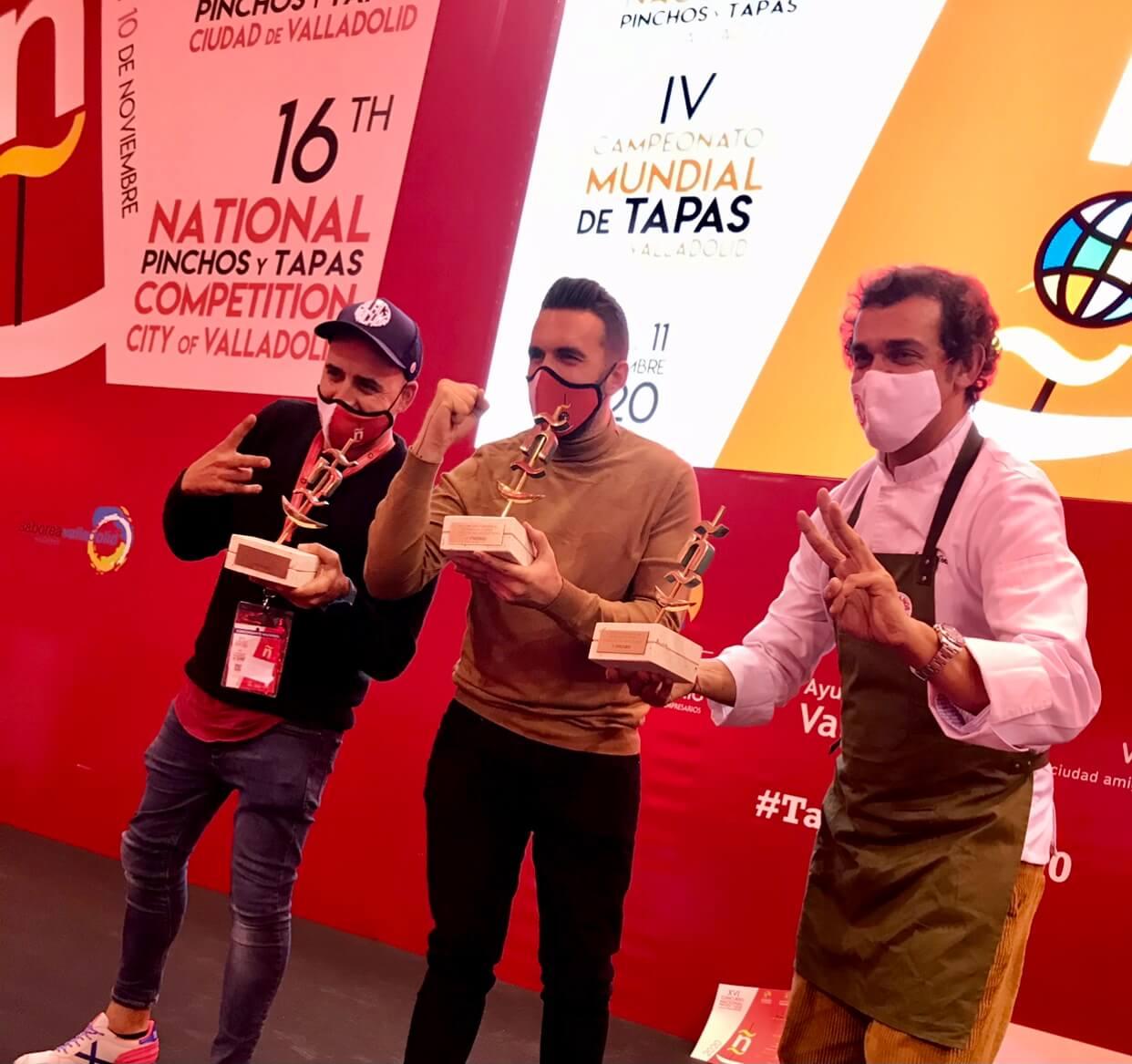 Chefs de las tapas ganadoras Valladolid 2020