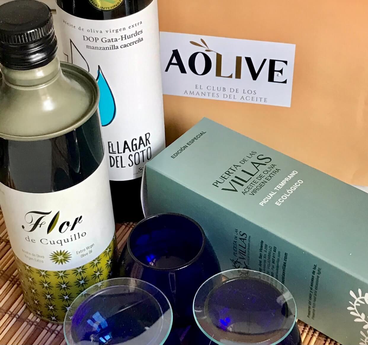 Aceites de oliva virgen extra de Aolive Club para la cata del aove