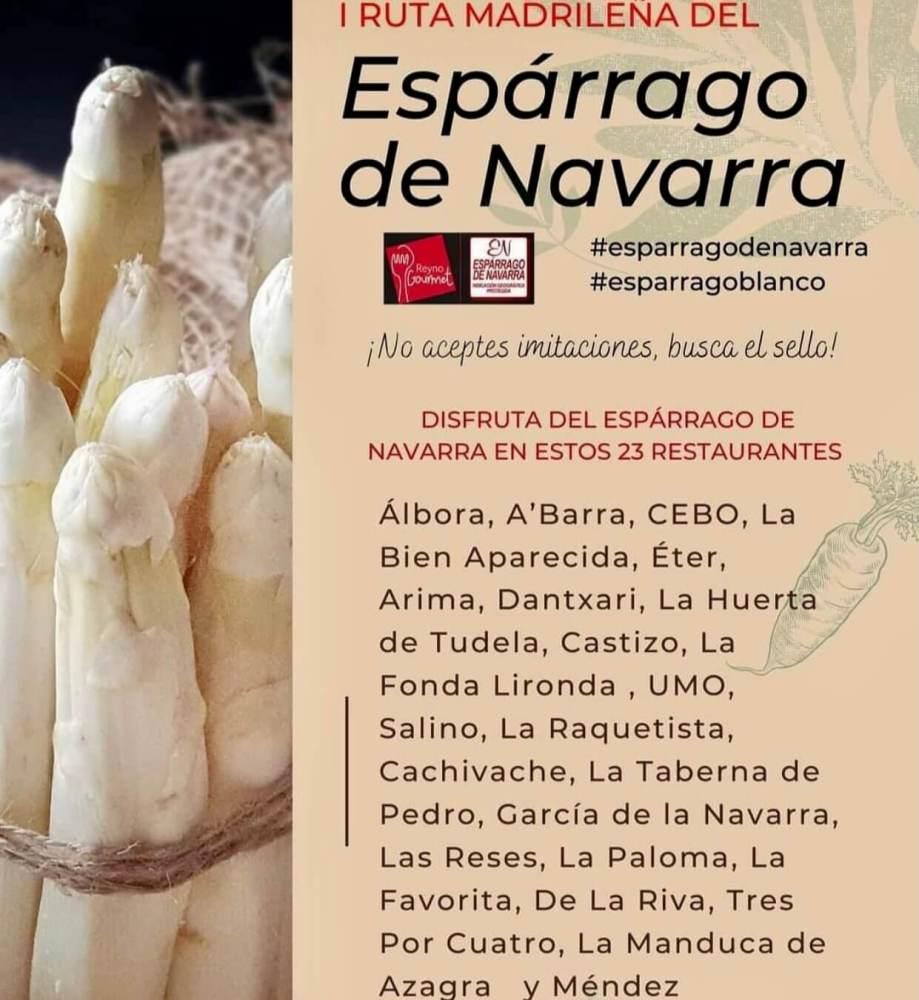Restaurantes en la I Ruta madrileña del espárrago de Navarra