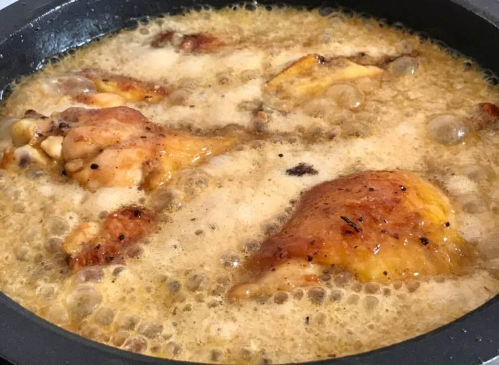 Pollo con cocacola y soja