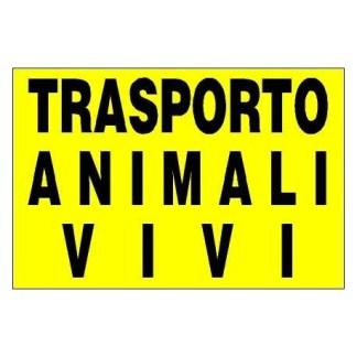 Targa adesiva Trasporto Animali Vivi