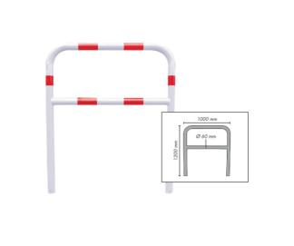 Barriera di sicurezza in acciaio bicolore da interrare per ambienti industriali