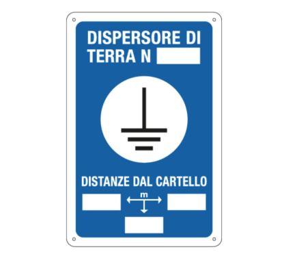 Targa: DISPERSORE DI TERRA N. art. 7612