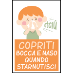 Targa: COPRITI BOCCA E NASO QUANDO STARNUTISCI art. 35556