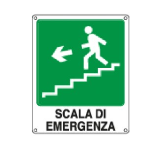 Targa: SCALA DI EMERGENZA DISCESA A SINISTRA art.20133