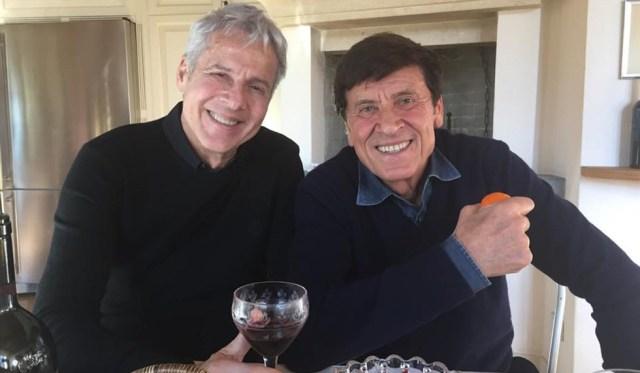 Gianni Morandi e Claudio Baglioni capitani coraggiosi in concerto a Roma