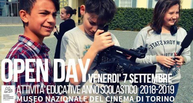 OPEN DAY - Presentazione delle attività del Museo Nazionale del Cinema per l'anno scolastico  2018-2019