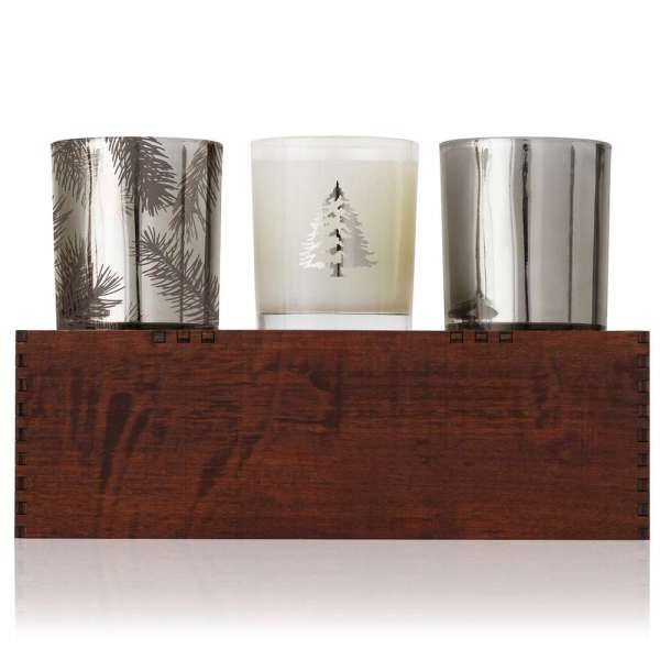 Thymes Frasier Fir Boxed Candle Trio