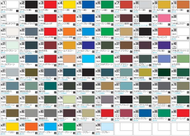 Mr Hobby Paint Color Chart Irfandiawhite
