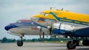DC-6B DC-3 side by side