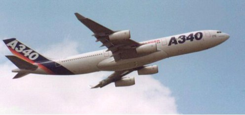 Prototype of the Airbus A340 Family F-WWBA