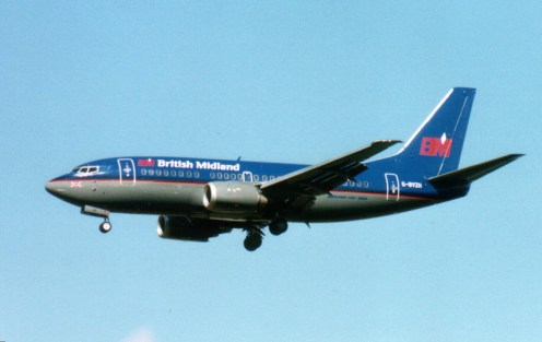 Boeing 737-508, G-BVZH British Midland Airways